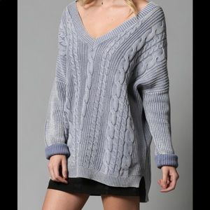 By Together Open Back Sweater M/L